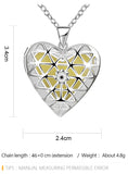 925 Sterling Silver Filled Glow in the dark pendant Heart locket design - Cardina Jewels - 2