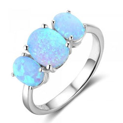 3 Stone Opal Ring