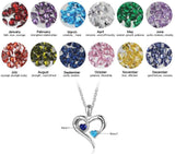 Personalized Name and Birthstone Heart Necklace
