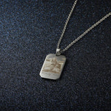 Engraved Stainless Steal Photo Necklace + free chain - Cardina Jewels - 5