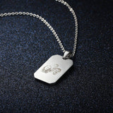 Engraved Stainless Steal Photo Necklace + free chain - Cardina Jewels - 6