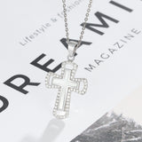 Oyster Pearl Cross Pendant + Chain