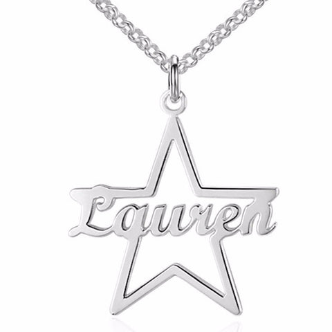 Personalized Name Necklace, Star Design - Cardina Jewels - 1
