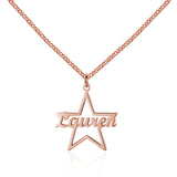 Personalized Name Necklace, Star Design - Cardina Jewels - 2