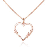 Personalized Name Necklace, Heart Design - Cardina Jewels - 3