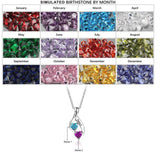 Personalized Name and 2 Birthstone Weave design Necklace