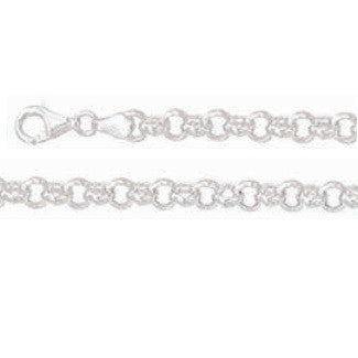 Solid  925 Sterling Silver Belcher Chain 45cm, 4mm