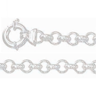 Solid  925 Sterling Silver Belcher Chain 50cm, 9mm