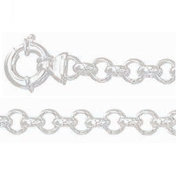 Solid  925 Sterling Silver Belcher Chain 50cm, 8mm