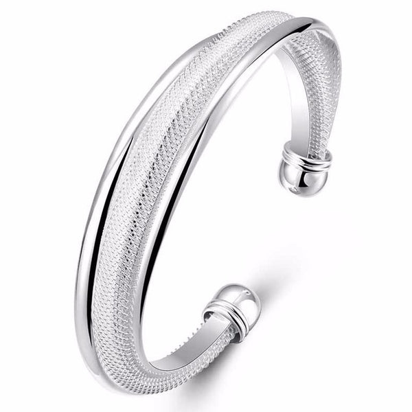 925 Silver filled Double Twist Bangle - Cardina Jewels - 1