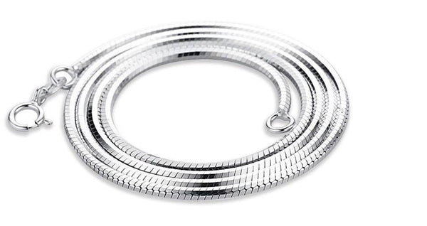 1.2mm Serling Silver snake Chain