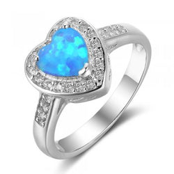 Heart Design Opal Ring