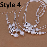 925 Sterling Silver Filled Jewelry Sets