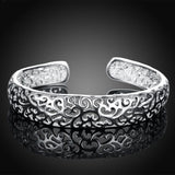925 Sterling silver filled Filigree cuff bangle - Cardina Jewels - 4