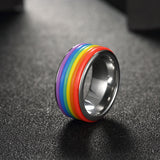 Titanium steel, Pride ring - Cardina Jewels - 2