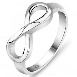 Solid Sterling Silver Infinity Ring