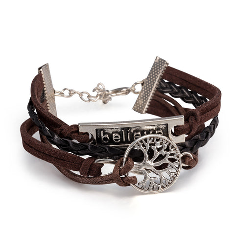 Infinity Wrap Bracelet, Believe, Tree of Life design