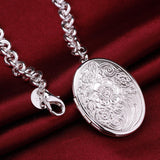 925 Sterling silver filled Ladies Oval locket bracelet, ADD YOUR OWN PHOTO