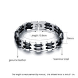 Genuine Stainless steel and silicon men's bracelet - Cardina Jewels - 2