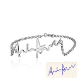 925 Sterling Silver Handwritten Bracelet - Cardina Jewels - 1