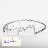 925 Sterling Silver Handwritten Bracelet - Cardina Jewels - 4