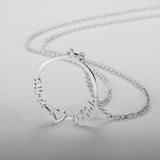 Personalized Name Necklace, Circle Design - Cardina Jewels - 4