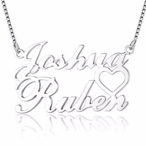 Personalized Name Necklace, Couple Design - Cardina Jewels - 1