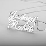 Personalized Name Necklace, Couple Design - Cardina Jewels - 4