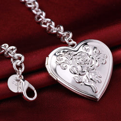 925 Sterling silver filled stamped Ladies locket bracelet, ADD YOUR OWN PHOTO - Cardina Jewels - 1