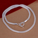 925 Silver Filled Mesh Style Necklace - Cardina Jewels - 2