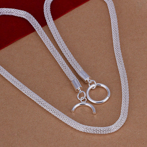 925 Silver Filled Mesh Style Necklace - Cardina Jewels - 1