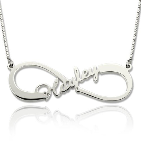 Personalized Name Necklace, Infinity with a Name, Gold or Silver - Cardina Jewels - 1