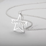 Personalized Name Necklace, Star Design - Cardina Jewels - 4