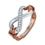 Personalized Solid Sterling Silver Infinity Ring with 18K GP detail - Cardina Jewels - 2