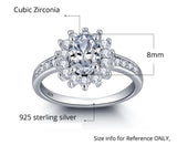 Personalized Solid Sterling Silver Engagement ring adorned with CZ stones - Cardina Jewels - 2