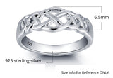 Personalized Solid Sterling Silver weaved design ring - Cardina Jewels - 3