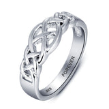Personalized Solid Sterling Silver weaved design ring - Cardina Jewels - 2