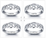 Personalized Solid Sterling Silver weaved design ring - Cardina Jewels - 4