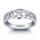 Personalized Solid Sterling Silver weaved design ring - Cardina Jewels - 1