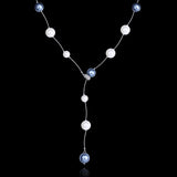 Ladies Long pearl bead Necklace - Cardina Jewels - 4