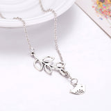 925 sterling silver plated Branch and Bird necklace with chain included - Cardina Jewels - 4
