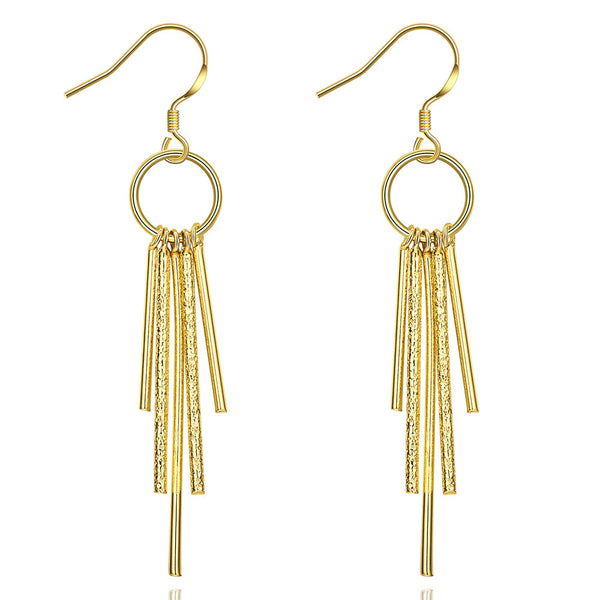 18K RGP in yellow gold, Elegant ladies dangle earrings - Cardina Jewels - 1