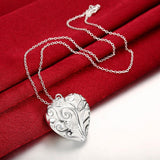 925 Sterling Silver Filled Ladies Heart pendant and free chain - Cardina Jewels - 3