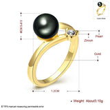 18K RGP in yellow gold, Ladies ring with shell pearl detail - Cardina Jewels - 2
