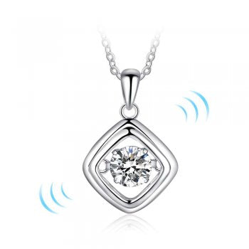 "Copy of ""Dancing Stone"" Diamond Shape Pendant with Chain"