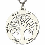 Personalized Tree of Life Necklace with up to 6 names engraved