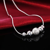 925 Sterling Silver filled ladies draped Necklace