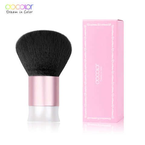 Docolor Kabuki Brush Large Powder Brush  Super Soft Mermaid brush Dense Synthetic Hair White and Pink  High Quality Brushes