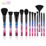 Docolor 12PCS Galaxy Makeup Brushes Professional Make up brushes Sky Night Handle Synthetic Hair with Gift Box