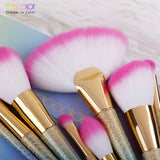 Docolor 17PCS Brushes for Makeup Professional Foundation Powder Eye Shadow Contour Fan Brushes Set Synthetic Hair Make Up Brush
